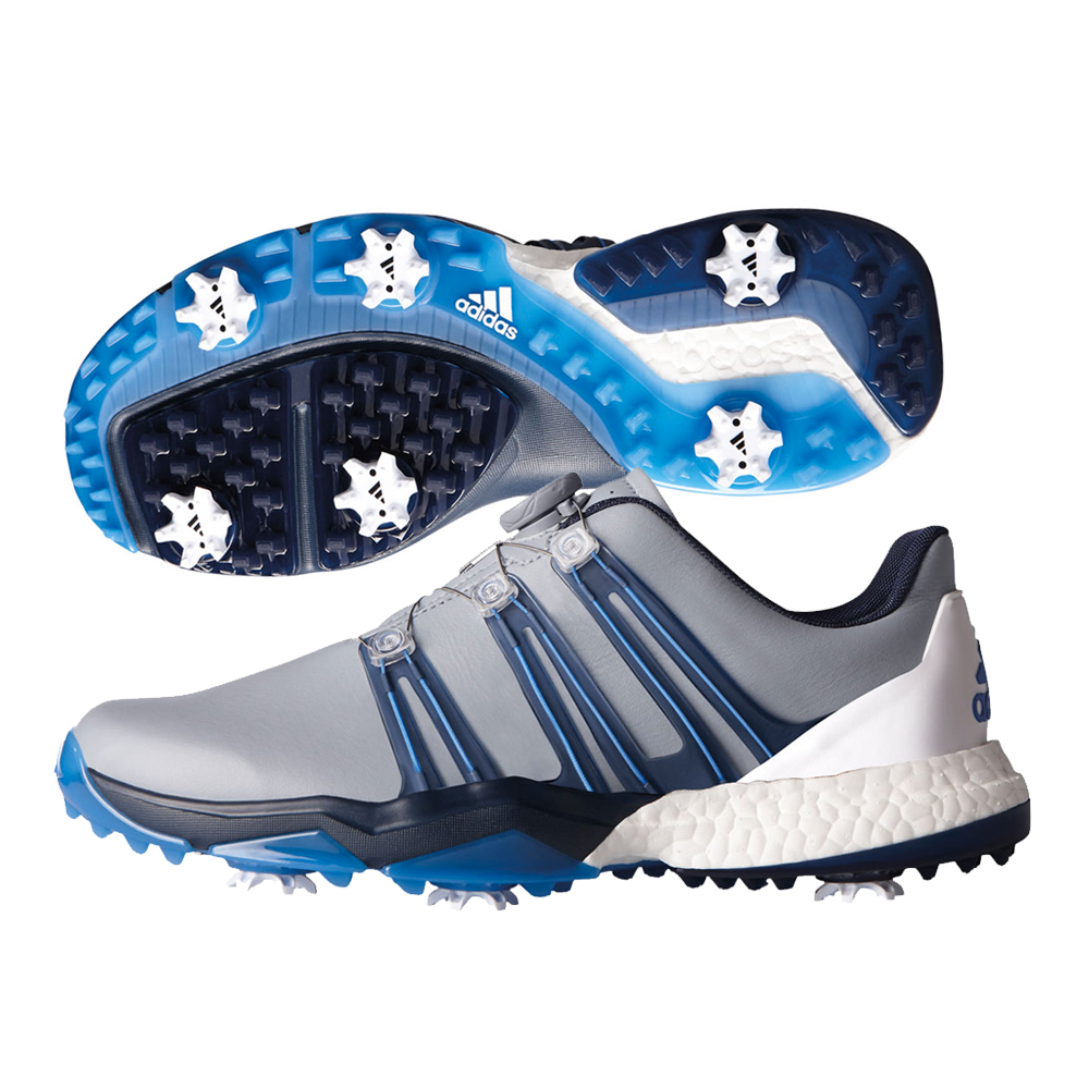 c7c3cc82beb7 adidas Powerband Boa Golf Shoe Mens Q44770 Light Grey slate blast Blue 2017  10.5. About this product. Picture 1 of 2  Picture 2 of 2