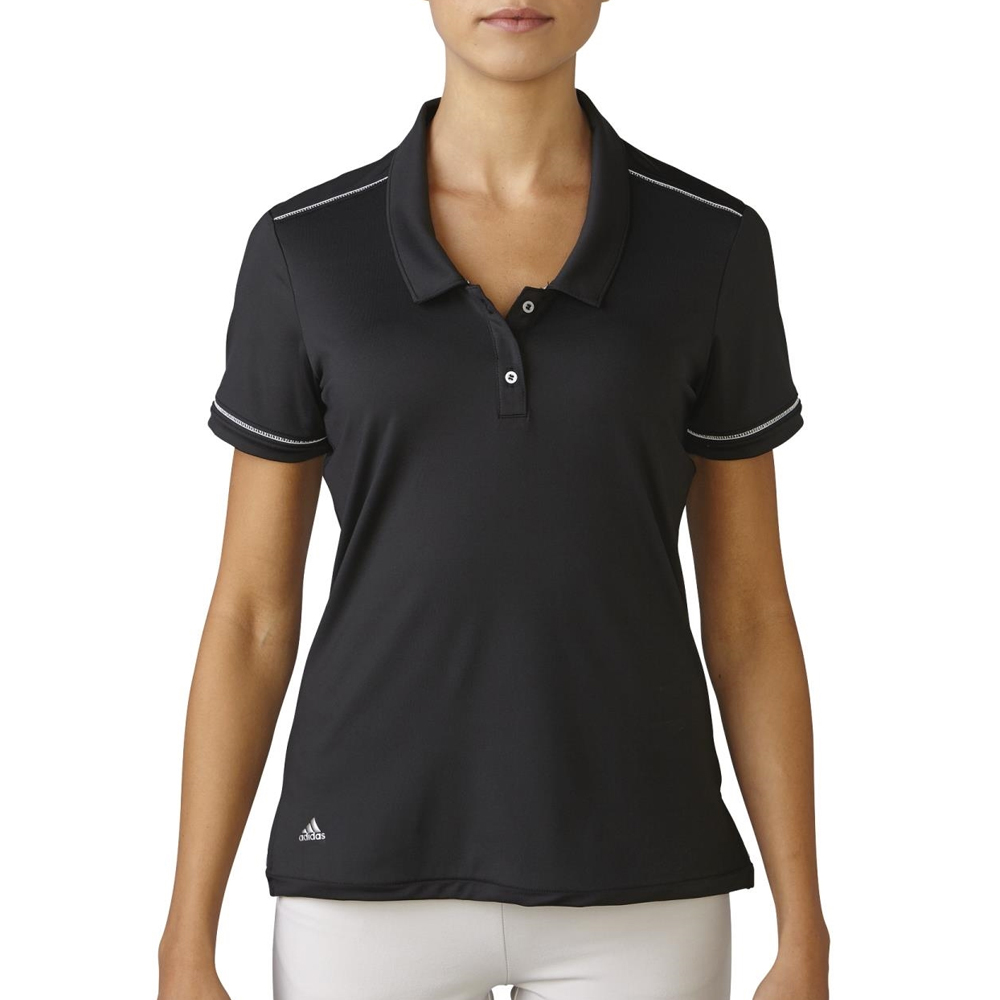 New women 39 s adidas tour vented golf polo moisture wicking for Moisture wicking golf shirts
