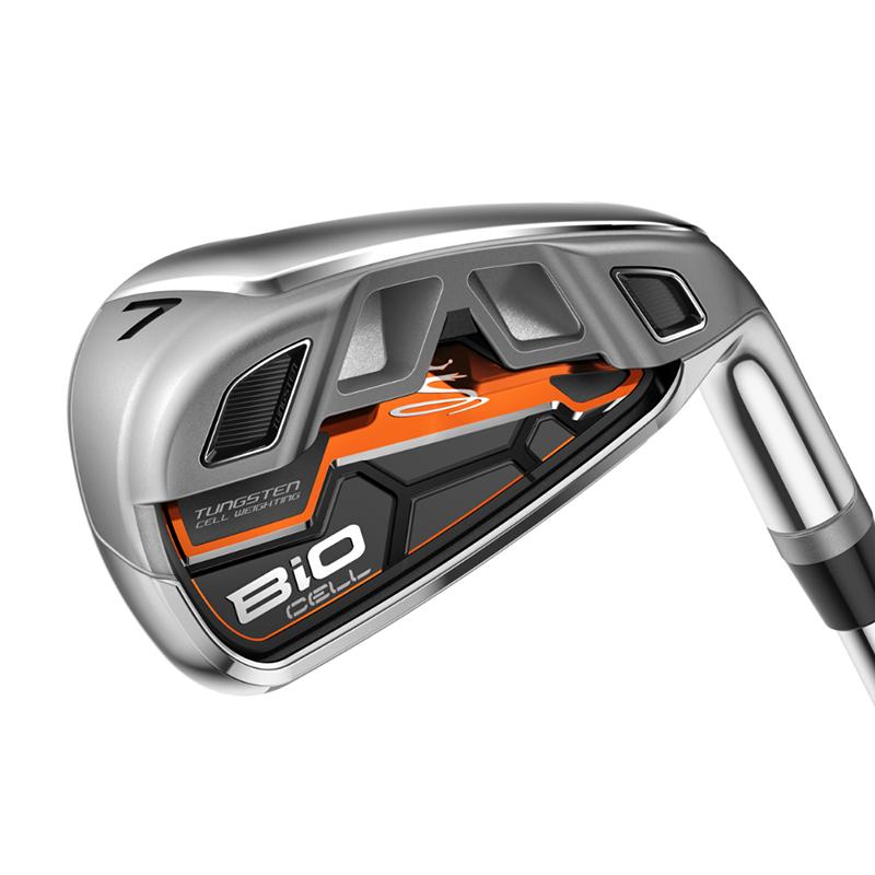 Cobra-Golf-BiO-Cell-Orange-Iron-Set-COMPONENT-HEADS-Tungsten-Fuled-Distance
