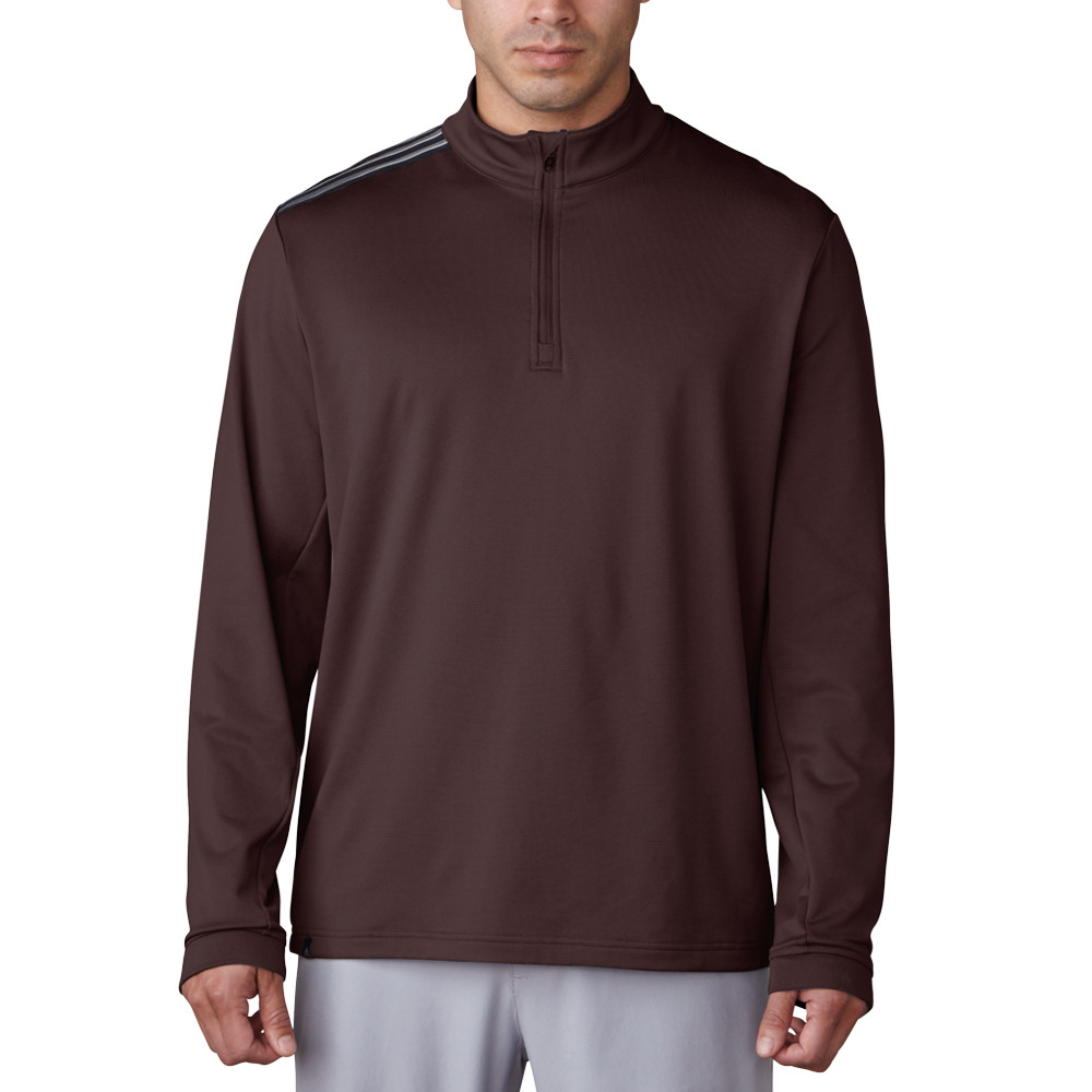 Adidas 3-Stripe Classic Quarter-Zip Golf Pullover - Discount Men's Golf Jackets & Pullovers ...
