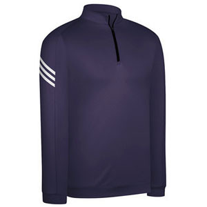 Adidas ClimaLite 3-Stripes Half-Zip Pullover Purple Dust/White