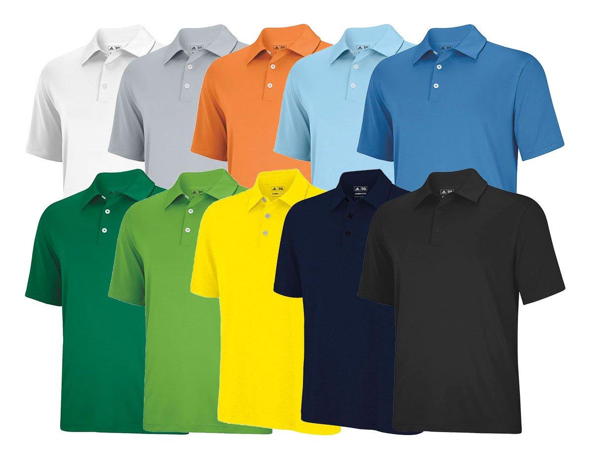 Adidas ClimaLite Solid Stretch Jersey Polo - Adidas Golf