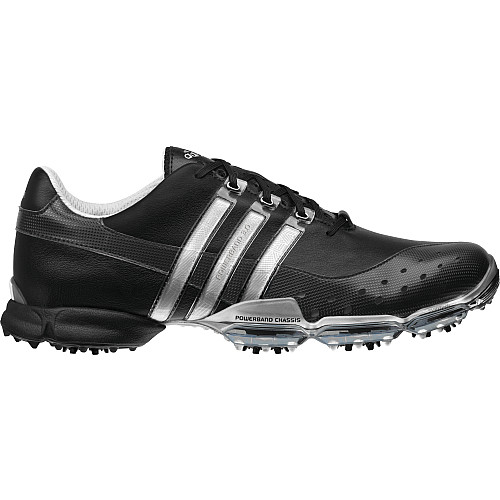 Adidas Powerband 3.0 Black/Black/Metallic Silver Golf Shoes