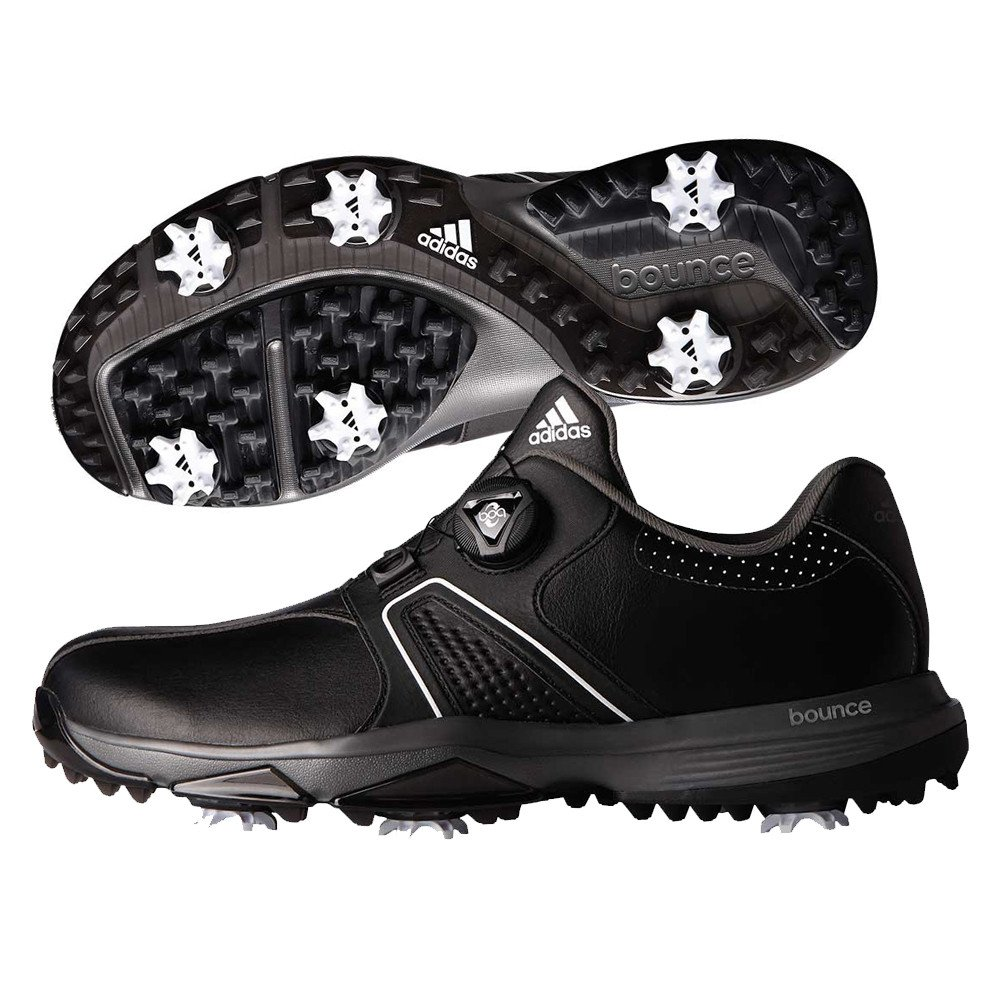 9b1de0f8f Adidas 360 Traxion BOA Golf Shoes. Core Black White Dark Silver Metallic