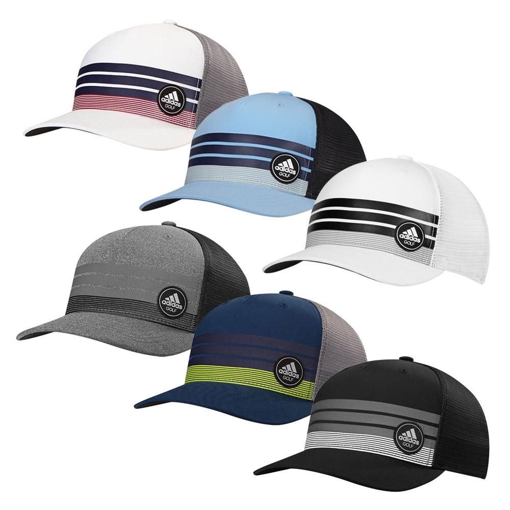 31fa7091 Adidas 3-Stripes Trucker Adjustable Cap - Men's Golf Hats & Headwear ...