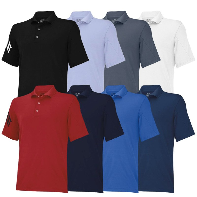 classic fit 762ea aa03d Adidas PureMotion ClimaCool 3-Stripes Sleeve Polo - Discount Men s Golf  Polos and Shirts - Hurricane Golf
