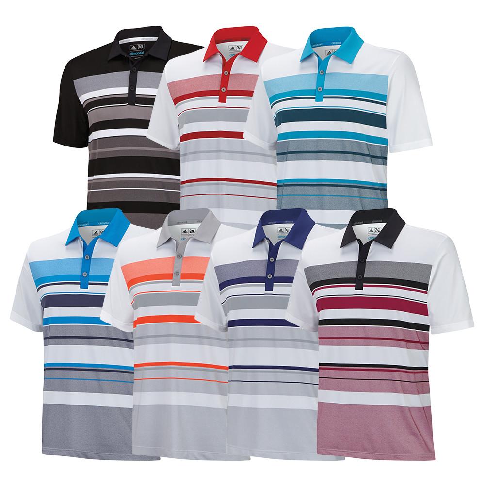 Adidas ClimaCool Sport Stripe Polo - Adidas Golf