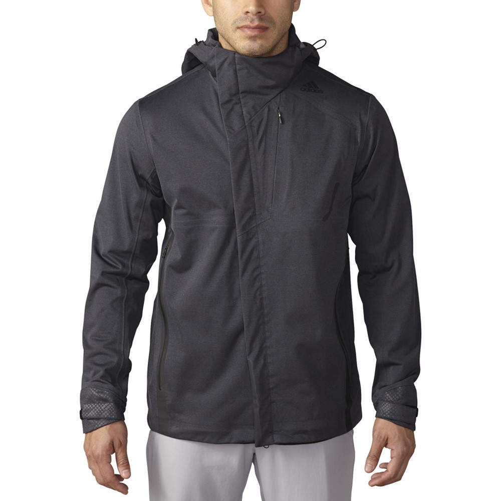 Adidas Climaproof Sport Performance Full-Zip Rain Jacket - Adidas Golf