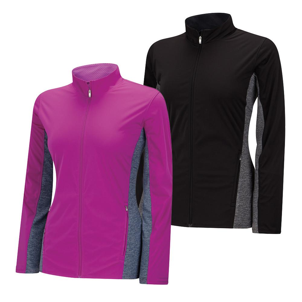 Women's Adidas Climastorm Wind-Knit Full Zip Jacket - Adidas Golf