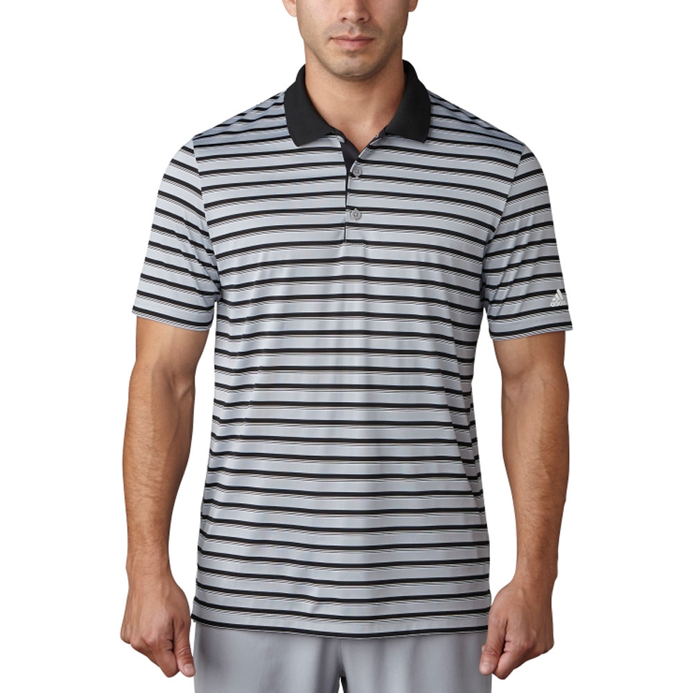 Adidas Club Merch Stripe Polo. MORE COLORS AVAILABLE. Mid Grey Black White 255e621572f34