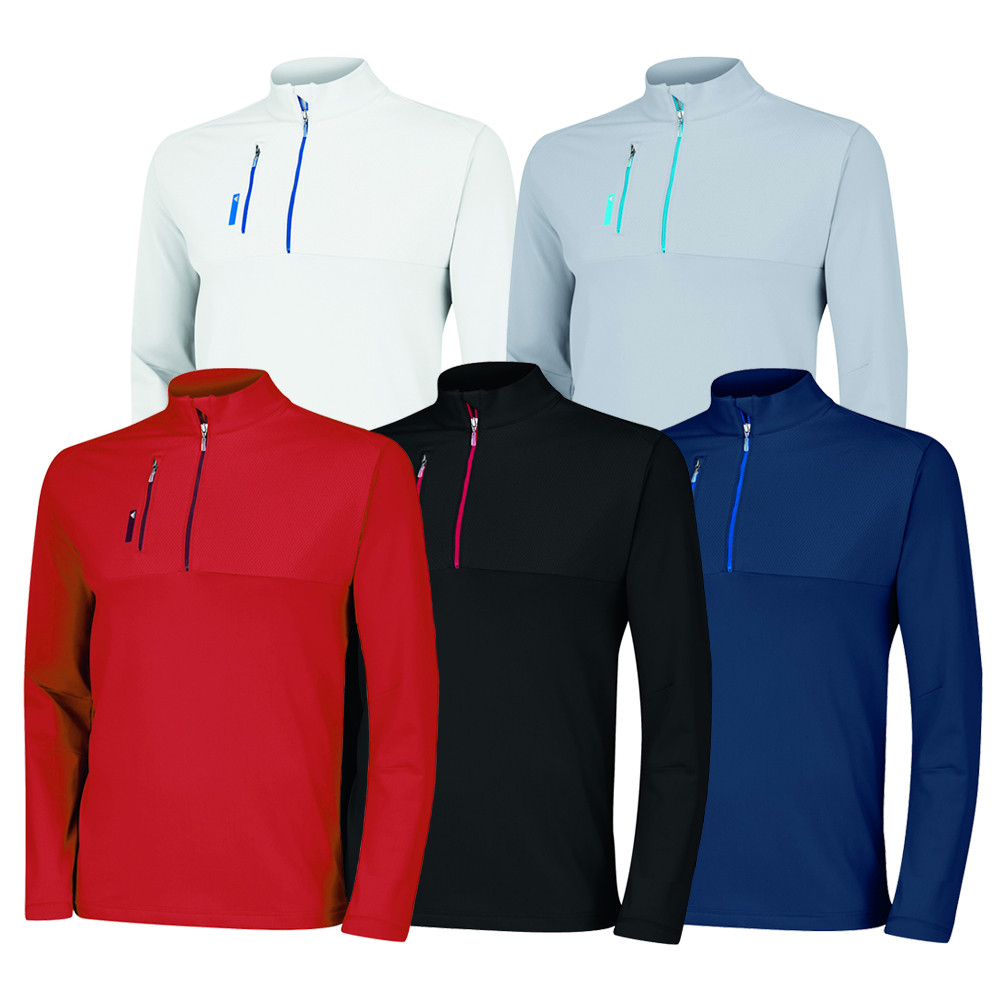 Adidas Mixed Media 1/4 Zip Pullover - Adidas Golf