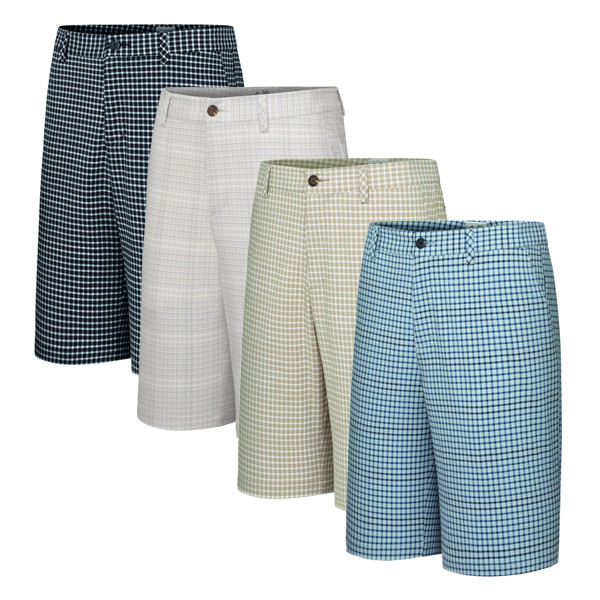 Adidas ClimaLite Neutral Plaid Short - Adidas Golf