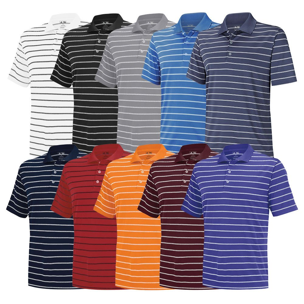 2015 Adidas Puremotion 2-Color Stripe Classic Polo