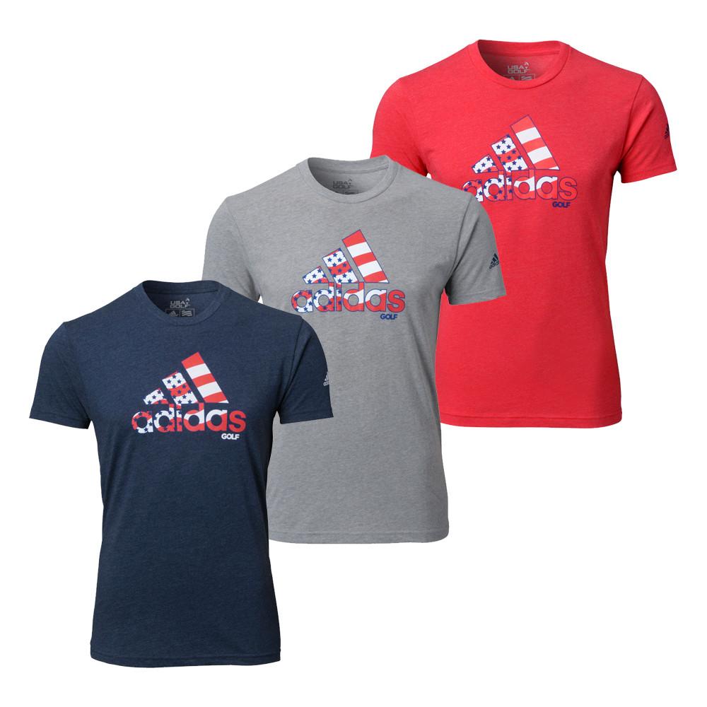 Adidas Stripe Adi Logo Tee Shirt - Adidas Golf