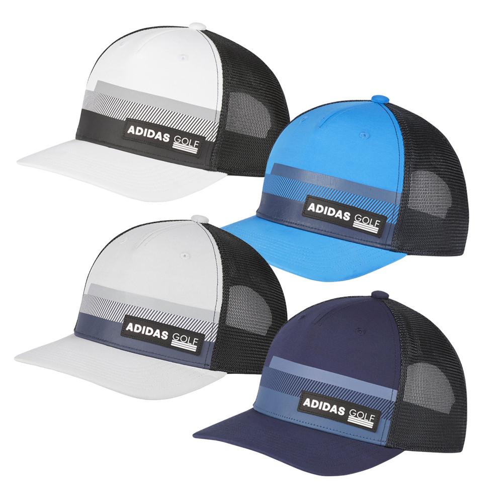 a2646a08a Adidas Golf Stripe Trucker Adjustable Hat
