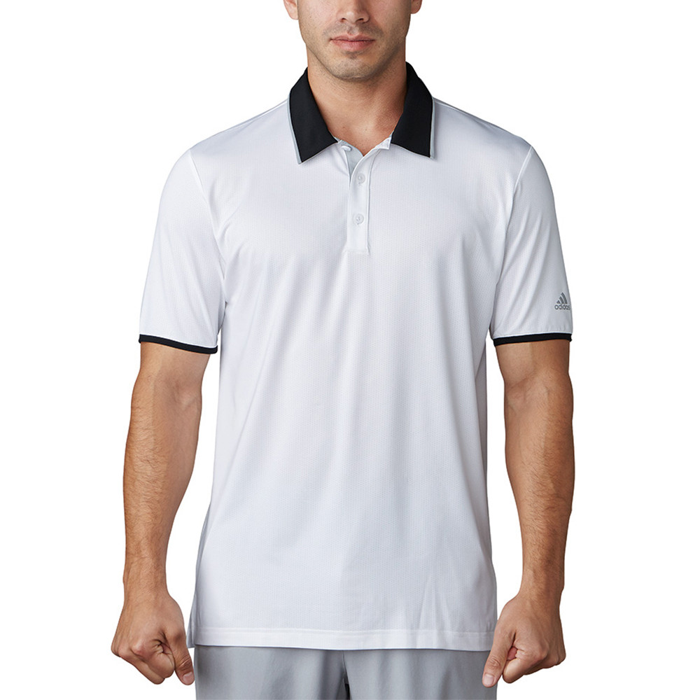 cce4d02f 2017 Adidas Climacool Performance Polo. MORE COLORS AVAILABLE. White/Black/Mid  Grey