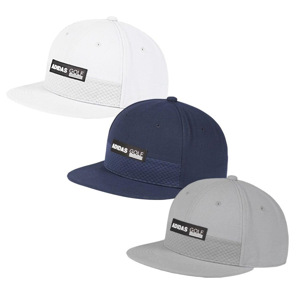 537fa688 Adidas Tonal Block Flat-Brim Snapback Cap - Men's Golf Hats & Headwear -  Hurricane Golf