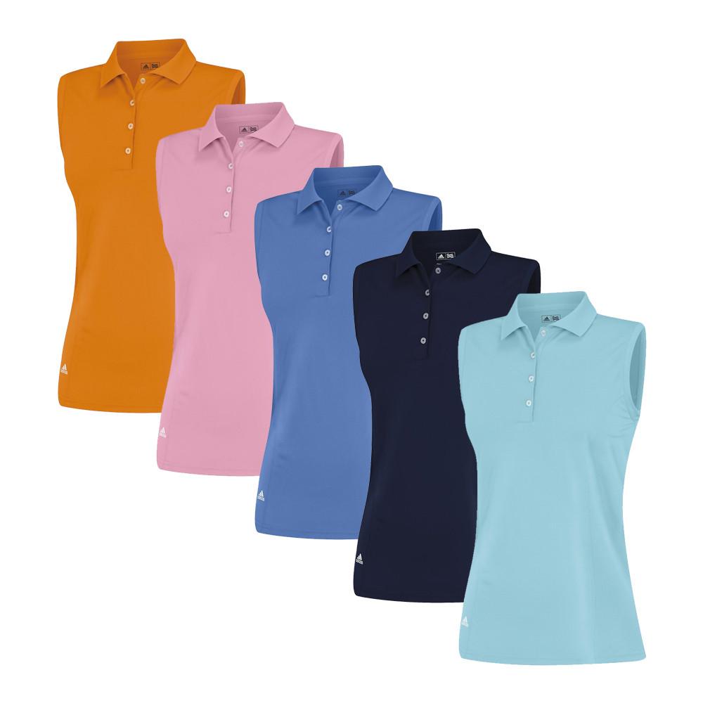 Women's Adidas Essentials Sleeveless Solid Polo - Adidas Golf