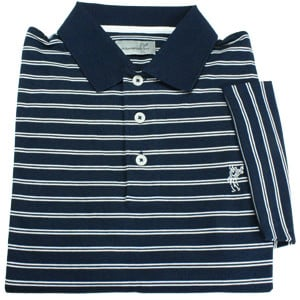 Ashworth 3rd Groove High Twist Jersey Stripe Polo Navy