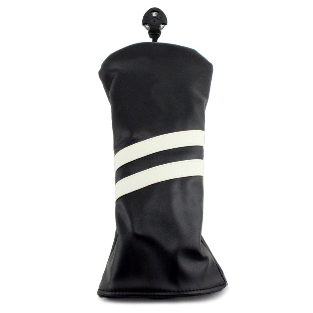 Hurricane Golf 2 Stripe Driver Headcover Black/White - Hurricane Golf