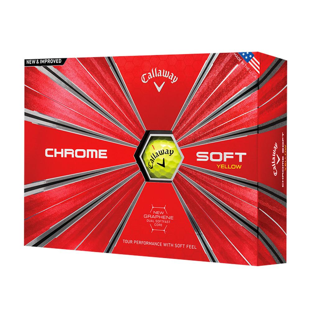 2018 Callaway Chrome Soft Yellow Golf Balls - Callaway Golf