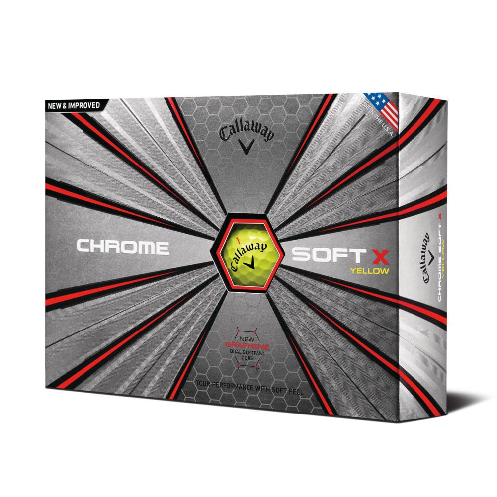 2018 Callaway Chrome Soft X Yellow Golf Balls - Callaway Golf