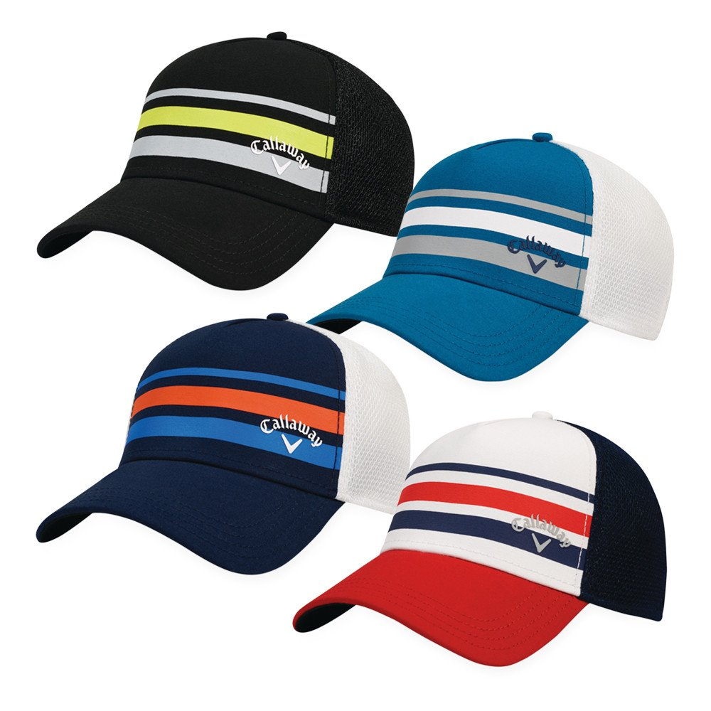 27a00097f5b69 Callaway Men s Stripe Mesh Fitted Hat - Men s Golf Hats   Headwear ...