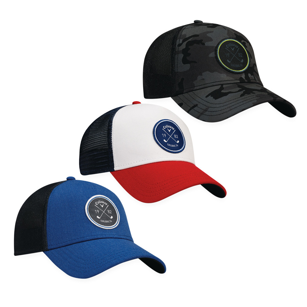 ce38a616f7491 Callaway Trucker Adjustable Cap - Men s Golf Hats   Headwear - Hurricane  Golf