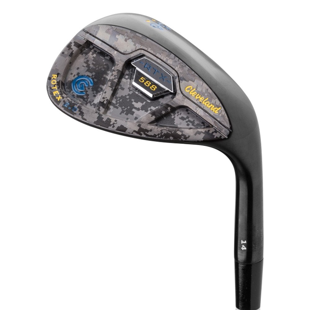 Cleveland 588 RTX 2.0 Custom Edition Black Satin Cavity Back Camo Blue/Yellow Wedge