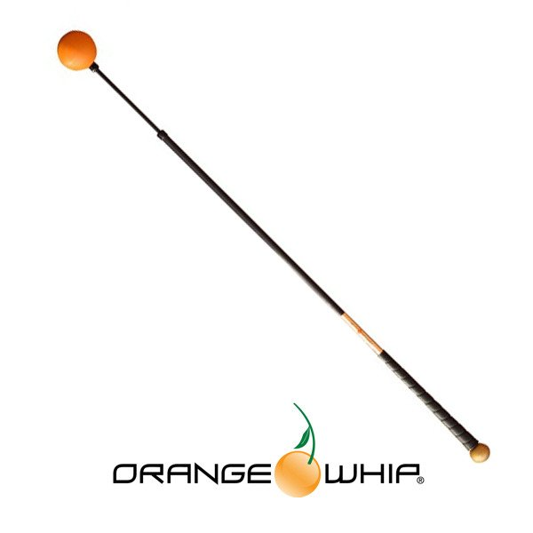 "Orange Whip Swing Trainer 44"" Golden Model - Orange Whip Golf"