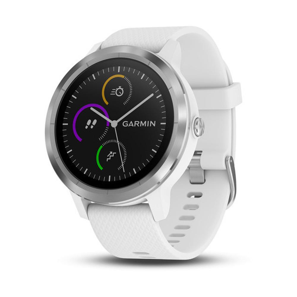 Garmin Vivoactive 3 GPS Watch White with Stainless Hardware - Garmin Golf