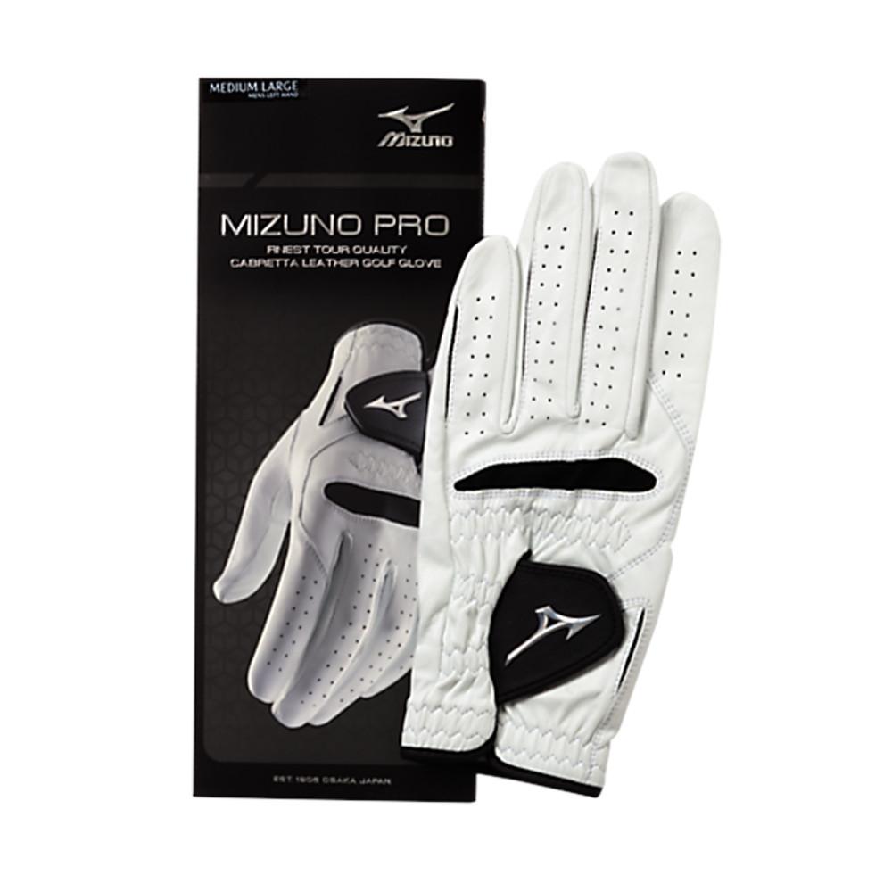Mizuno Pro Golf Glove White/Black - Mizuno Golf