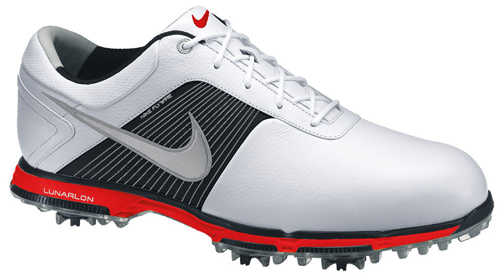 Nike Lunar Control White/Red Golf Shoes