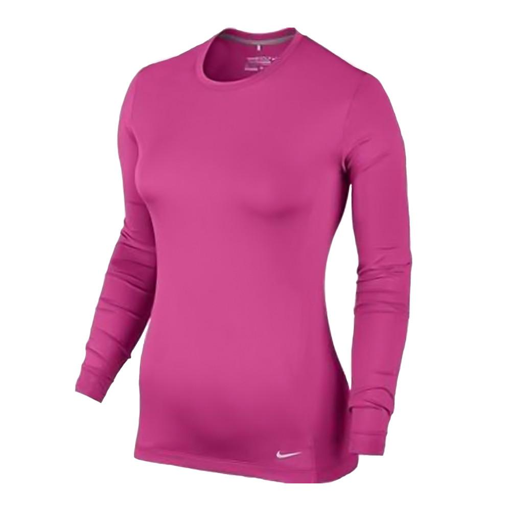 f953be0d1 Nike Pro Long-Sleeve Crew Women s Golf Top - Discount Women s Golf Polos  and Shirts - Hurricane Golf.