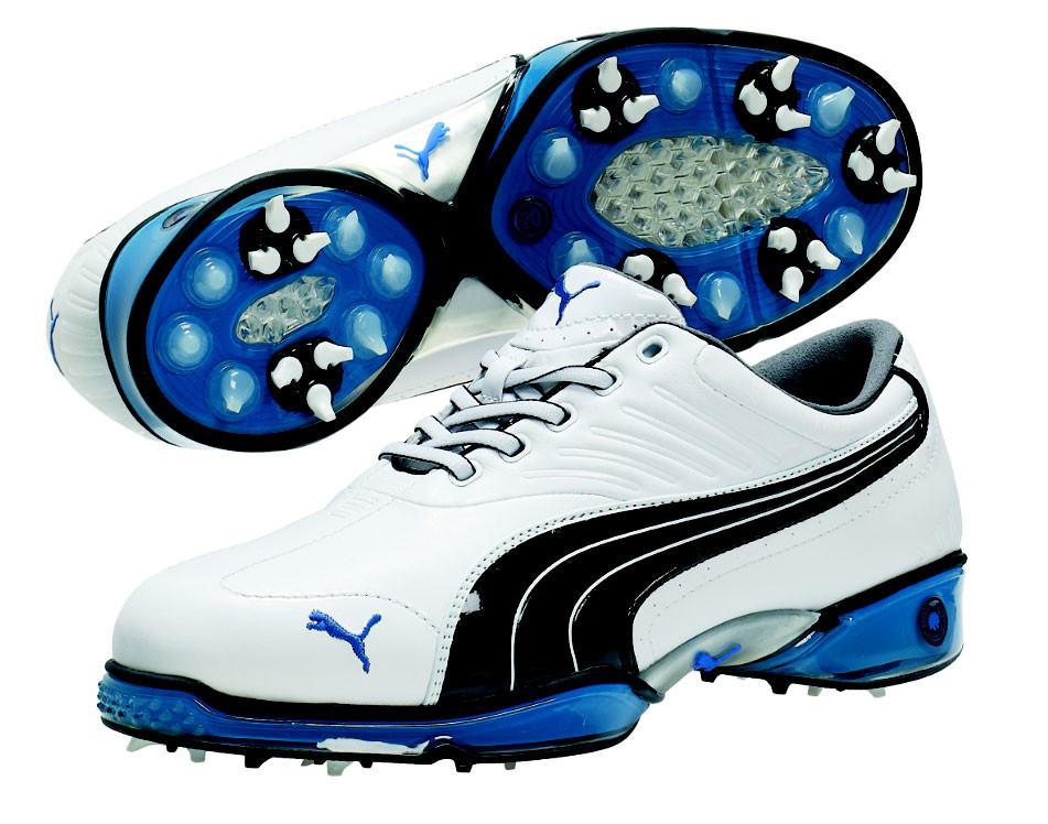 Puma Cell Fusion White/Snorkel Blue Golf Shoes