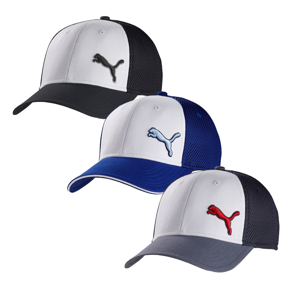 PUMA Back 9 Stretch Mesh Fit Cap - Men s Golf Hats   Headwear - Hurricane  Golf e6e5986362f
