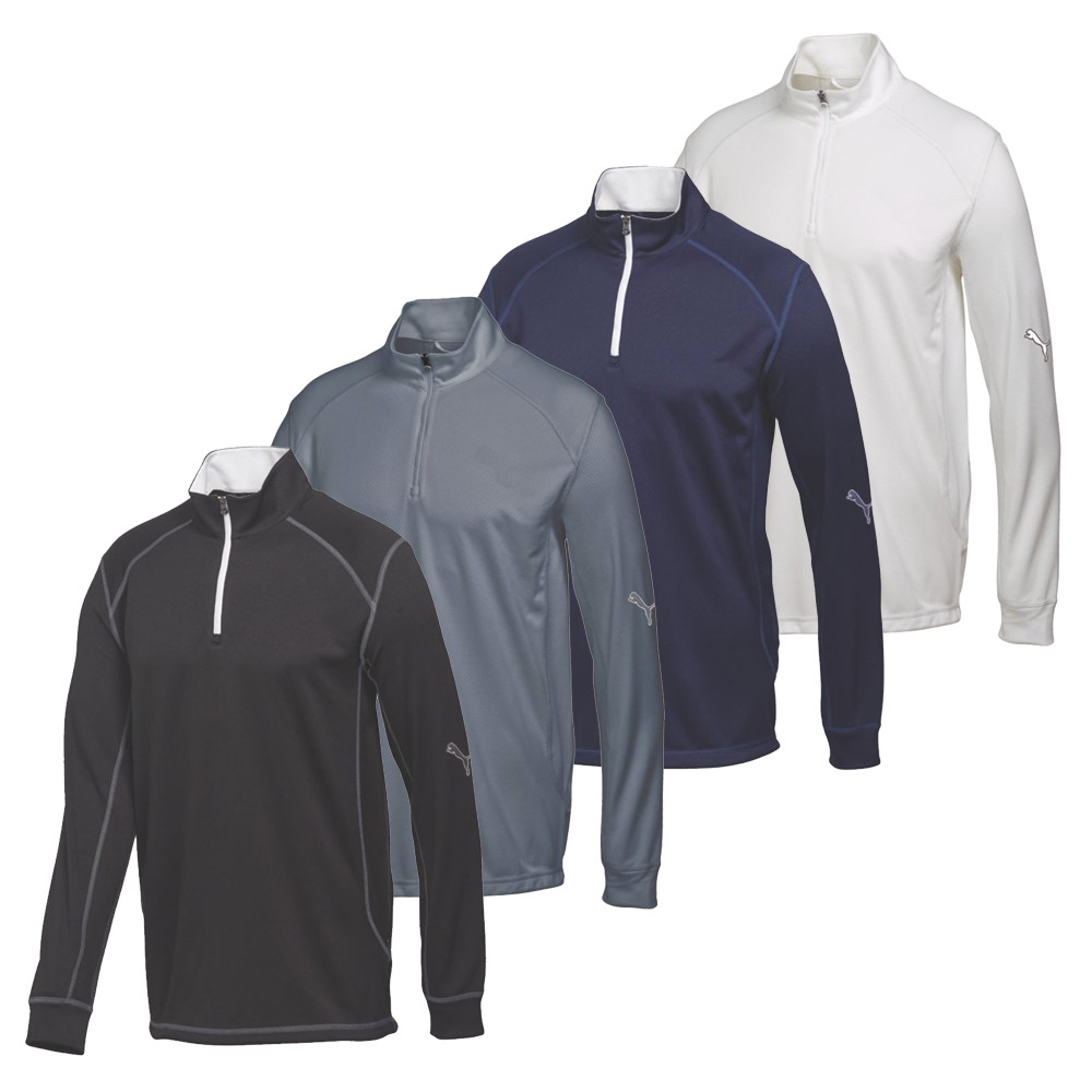 PUMA Golf Tech 1/4 Zip Top Cresting - PUMA Golf
