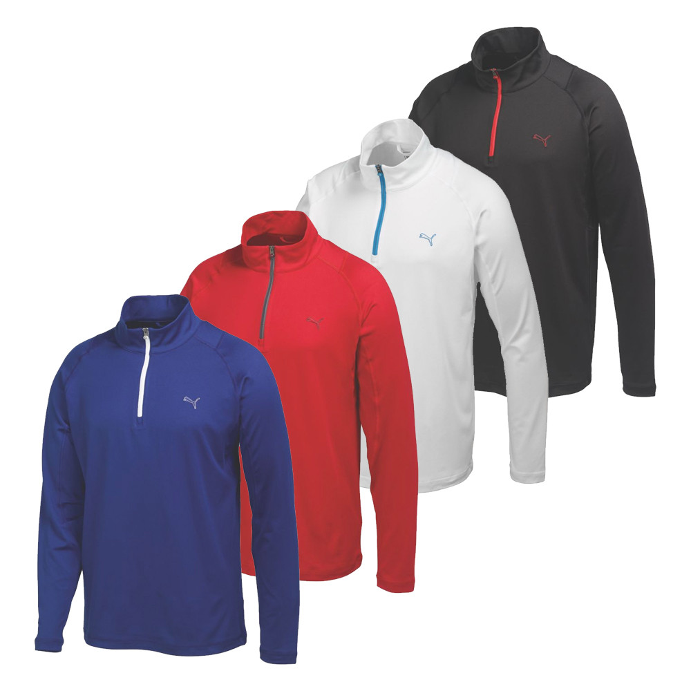 PUMA Solid 1/4 Zip Popover Golf Shirt