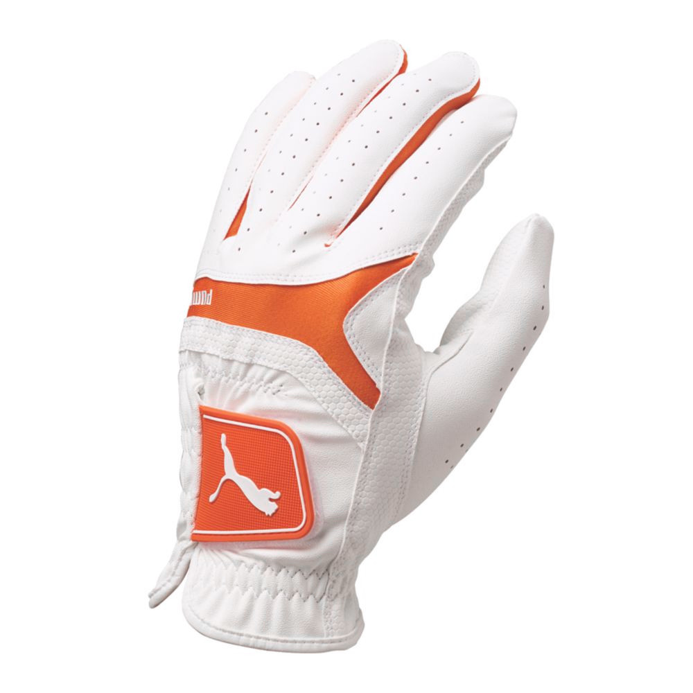 PUMA Sport Performance Player's Golf Glove White/Vibrant Orange - PUMA Golf