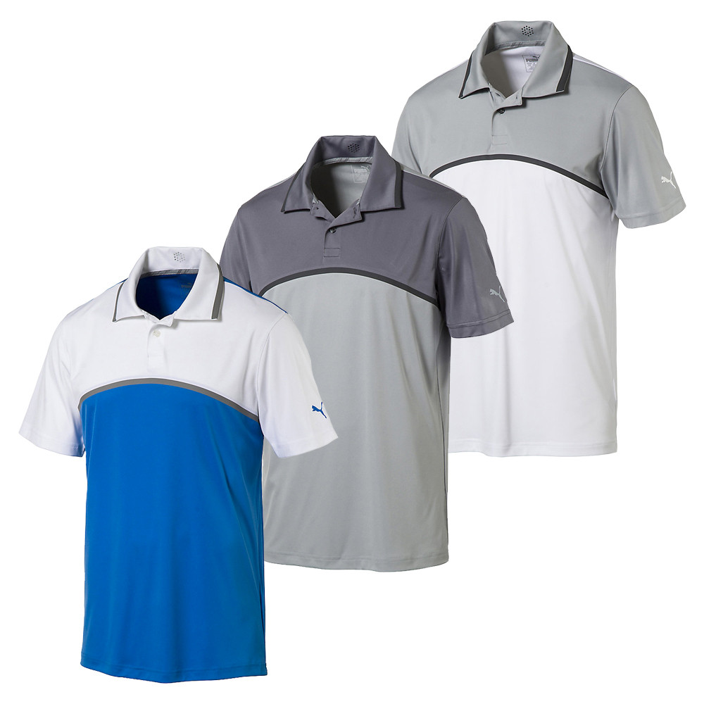 Puma Tailored Colorblock Golf Polo Discount Mens Golf Polos And