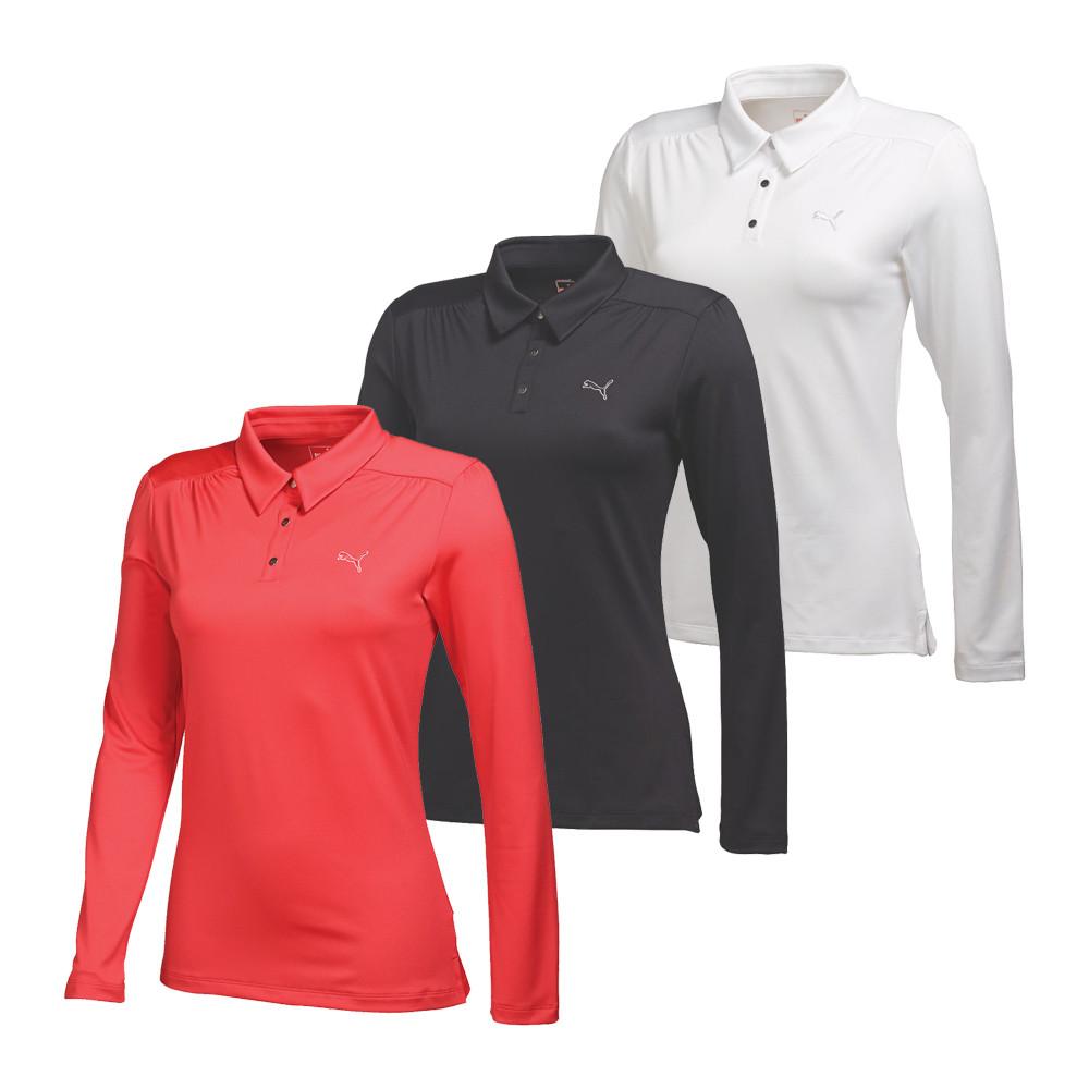 Women's PUMA Long Sleeve Polo Golf Shirt - PUMA Golf