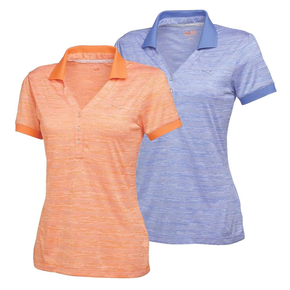 Women's PUMA Multi Stripe Polo Golf Shirt - PUMA Golf