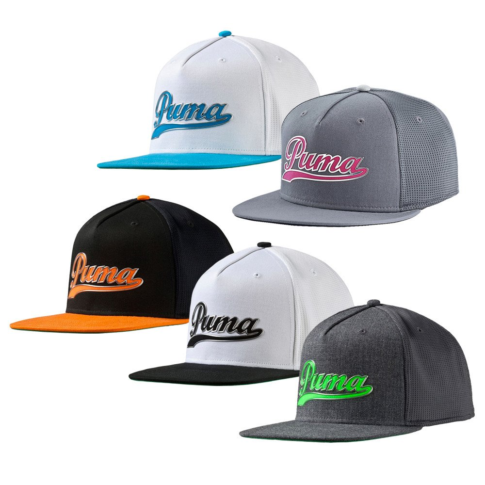Youth PUMA Script Snapback Cap - Men s Golf Hats   Headwear - Hurricane Golf a1a440d84b6
