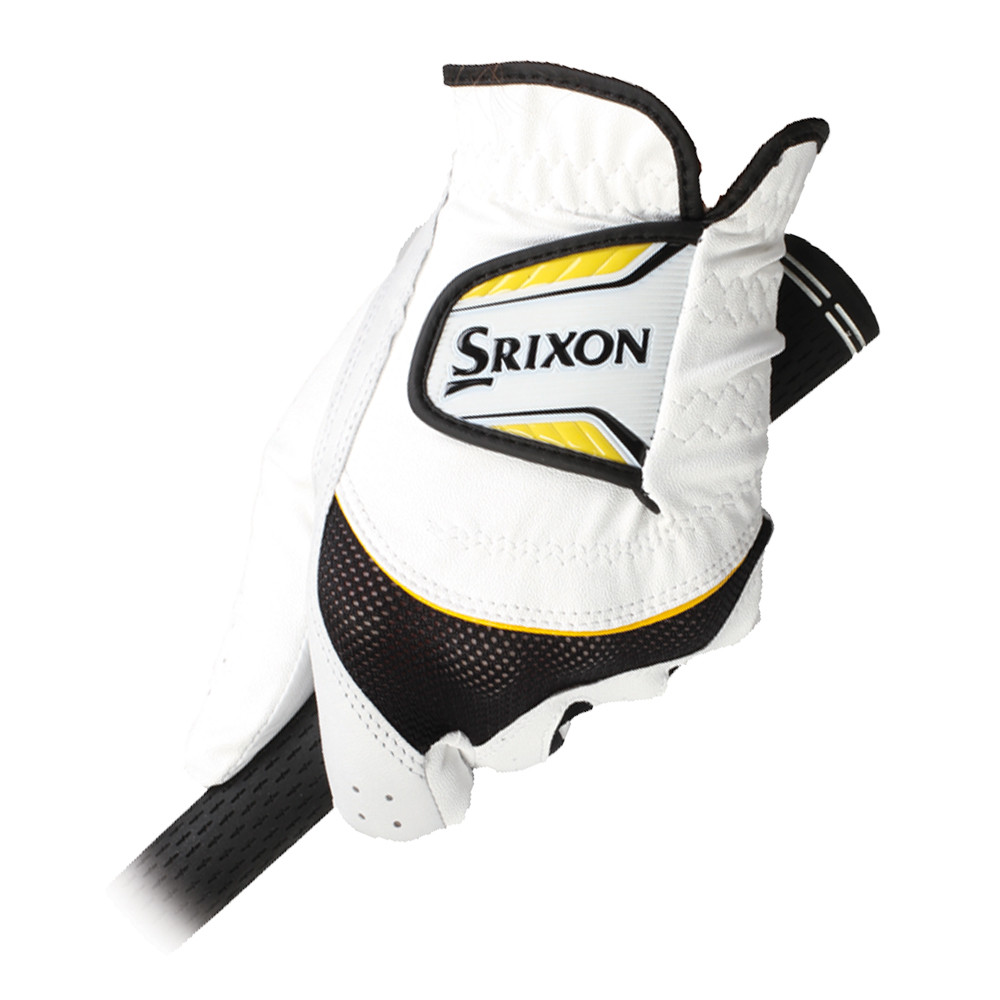 Srixon Premium Hybrid Golf Glove White/Black/Yellow