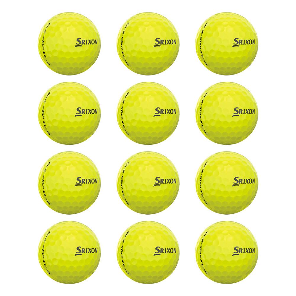 Srixon Z-Star 4 XV Tour Yellow LOOSE #6 Golf Balls - Srixon Golf