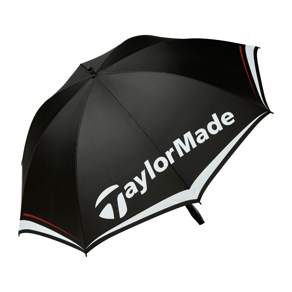 "TaylorMade 60"" Single Canopy Umbrella Black/White/Charcoal - TaylorMade Golf"