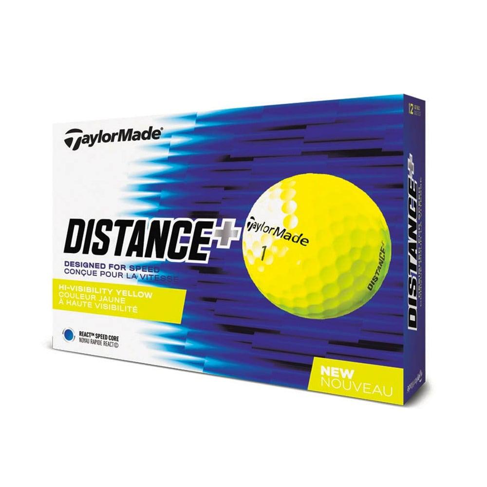 TaylorMade Distance+ Yellow Golf Balls - TaylorMade Golf