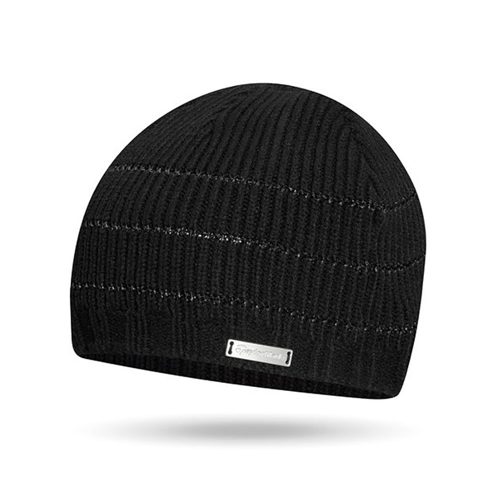 TaylorMade Ladies Black Knitted Beanie - TaylorMade Golf