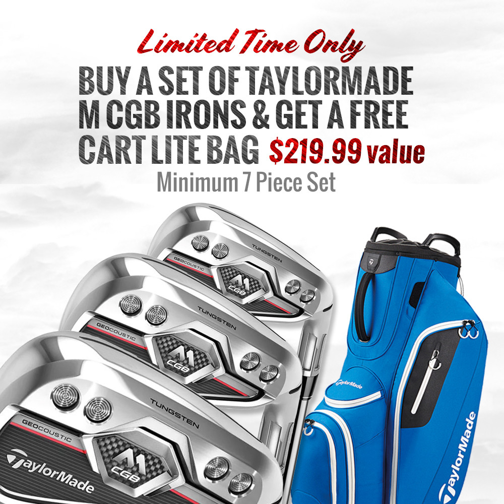 TaylorMade M CGB Iron Set w/ FREE ROYAL CART LITE BAG - TaylorMade Golf