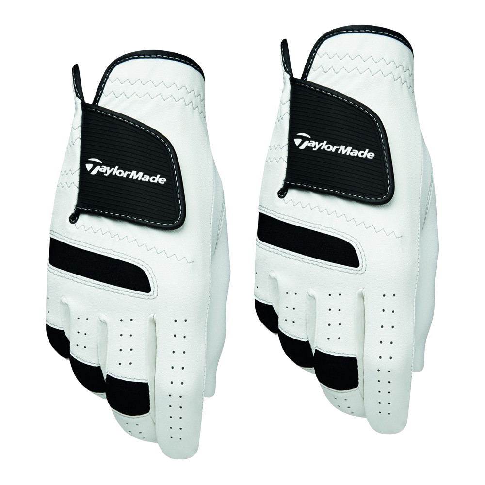 TaylorMade ST Synthetic Tech White/Black Golf Glove 2 Pack